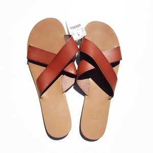 J.CREW leather sandals. Size 11